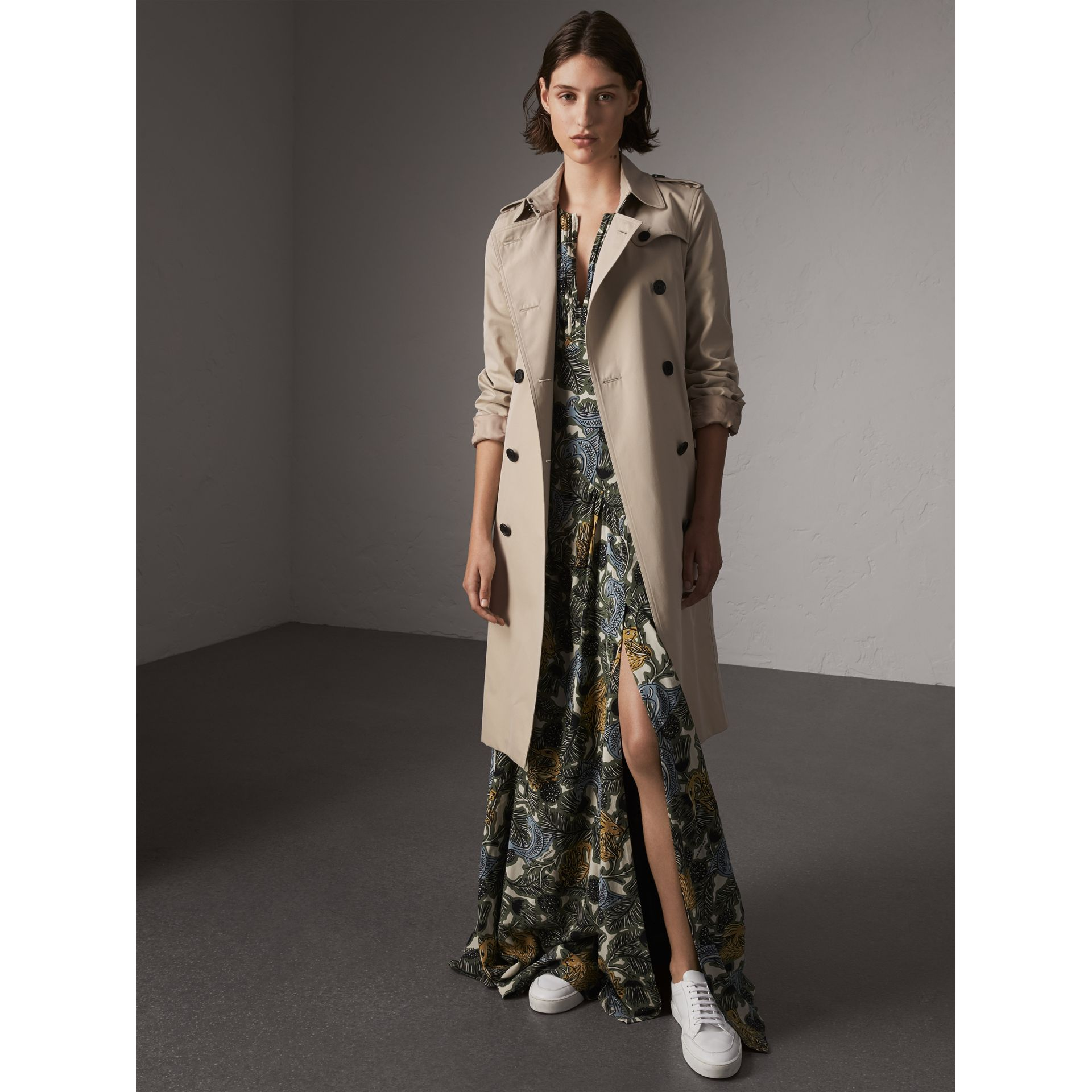 The Kensington – Trench extra-long (Stone) - Femme | Burberry - photo de la galerie 1