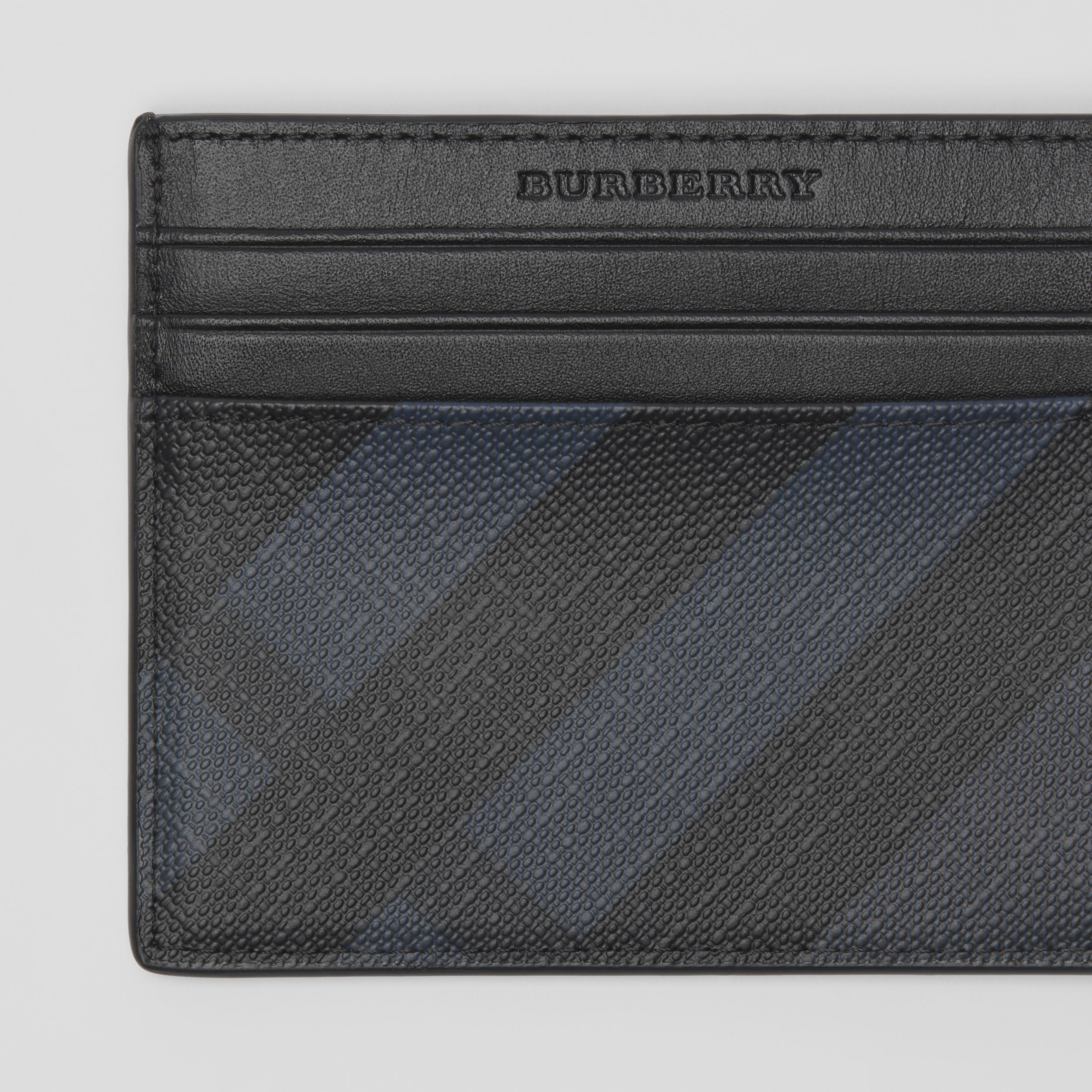 London Check Card Case in Navy/black - Men | Burberry - 2