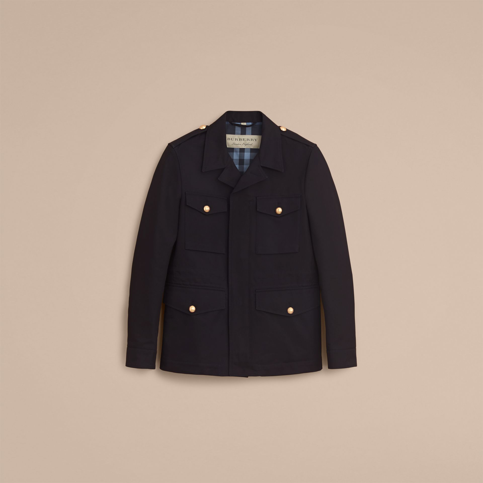 Military Detail Cotton Twill Field Jacket - gallery image 4