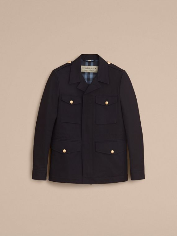 Military Detail Cotton Twill Field Jacket - cell image 3