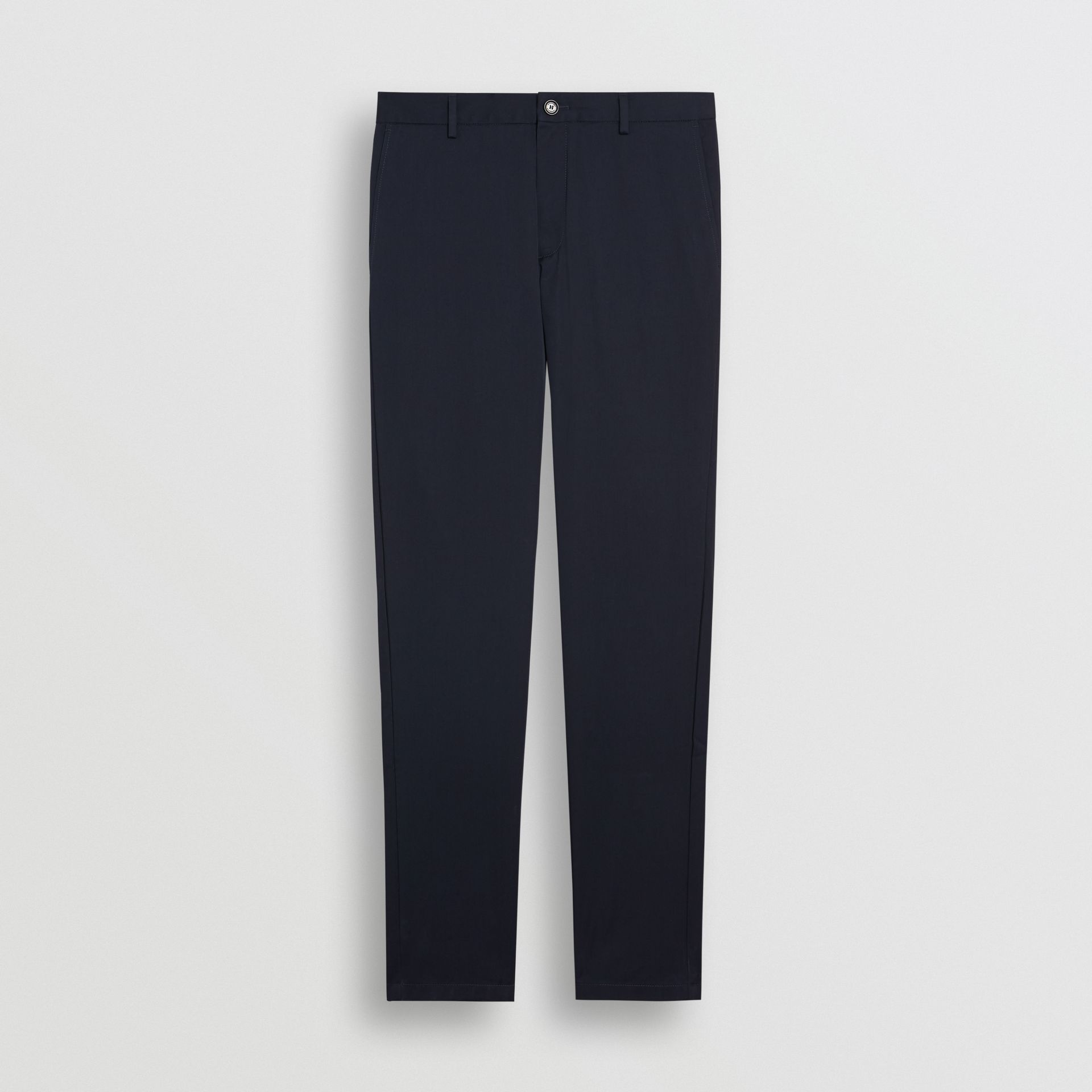 Slim Fit Cotton Chinos in Navy - Men | Burberry United Kingdom - gallery image 3