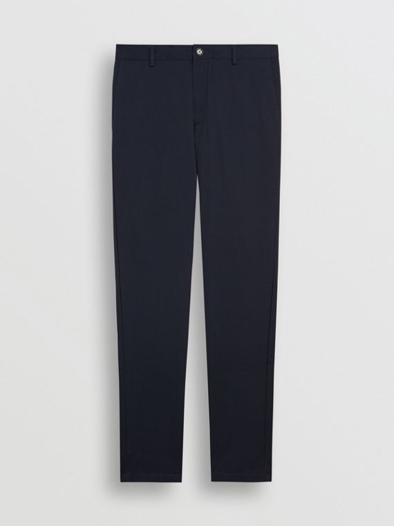 Chino aderenti in cotone (Navy)