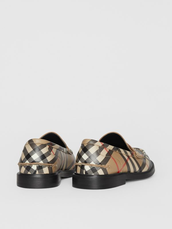 Vintage check Leather Loafers in Archive Beige - Children | Burberry - cell image 2