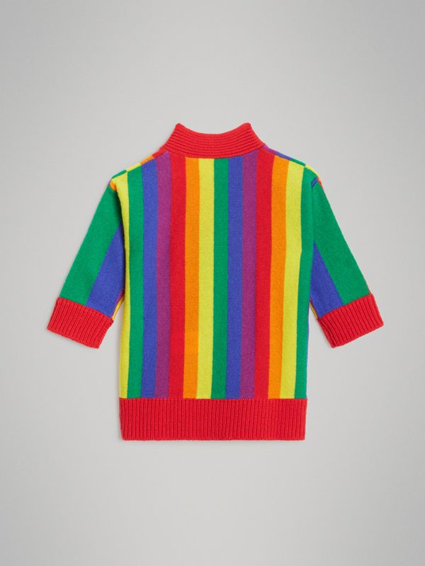 Striped Wool Cashmere Sweater Dress in Multicolour - Children | Burberry - cell image 3