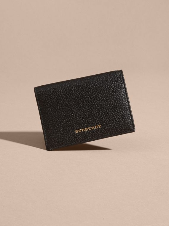 Black Grainy Leather Card Holder - cell image 2