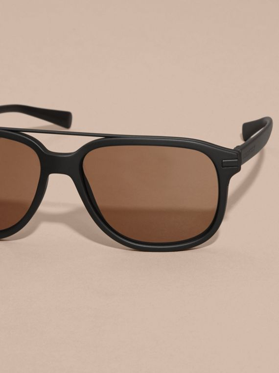 Black Square Frame Sunglasses Black - cell image 2