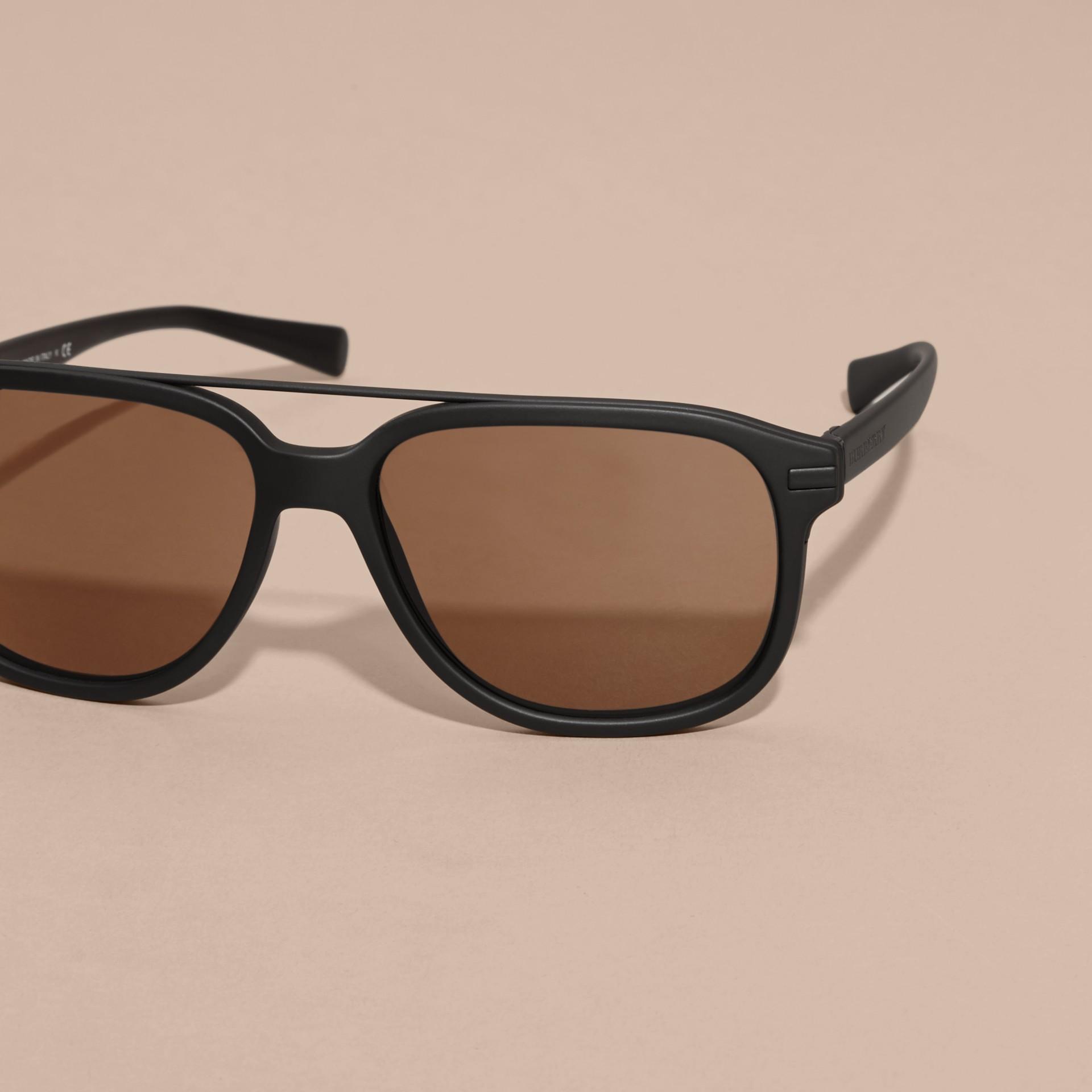 Burberry Black Frame Glasses : Square Frame Sunglasses Black Burberry