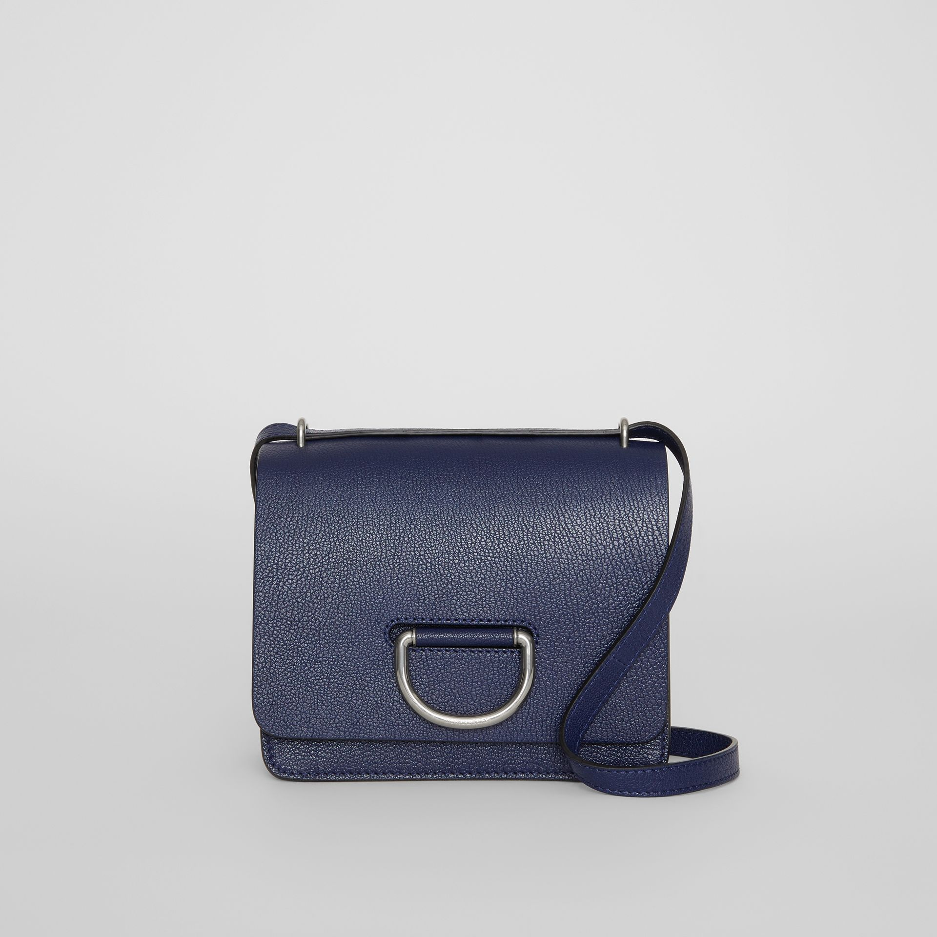The Small Leather D-ring Bag in Regency Blue - Women | Burberry United States - gallery image 0
