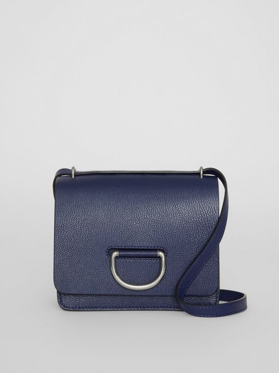The Small Leather D-ring Bag in Regency Blue