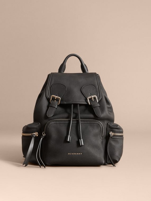Zaino The Rucksack medio in pelle di cervo con catena in resina (Nero) - Donna | Burberry