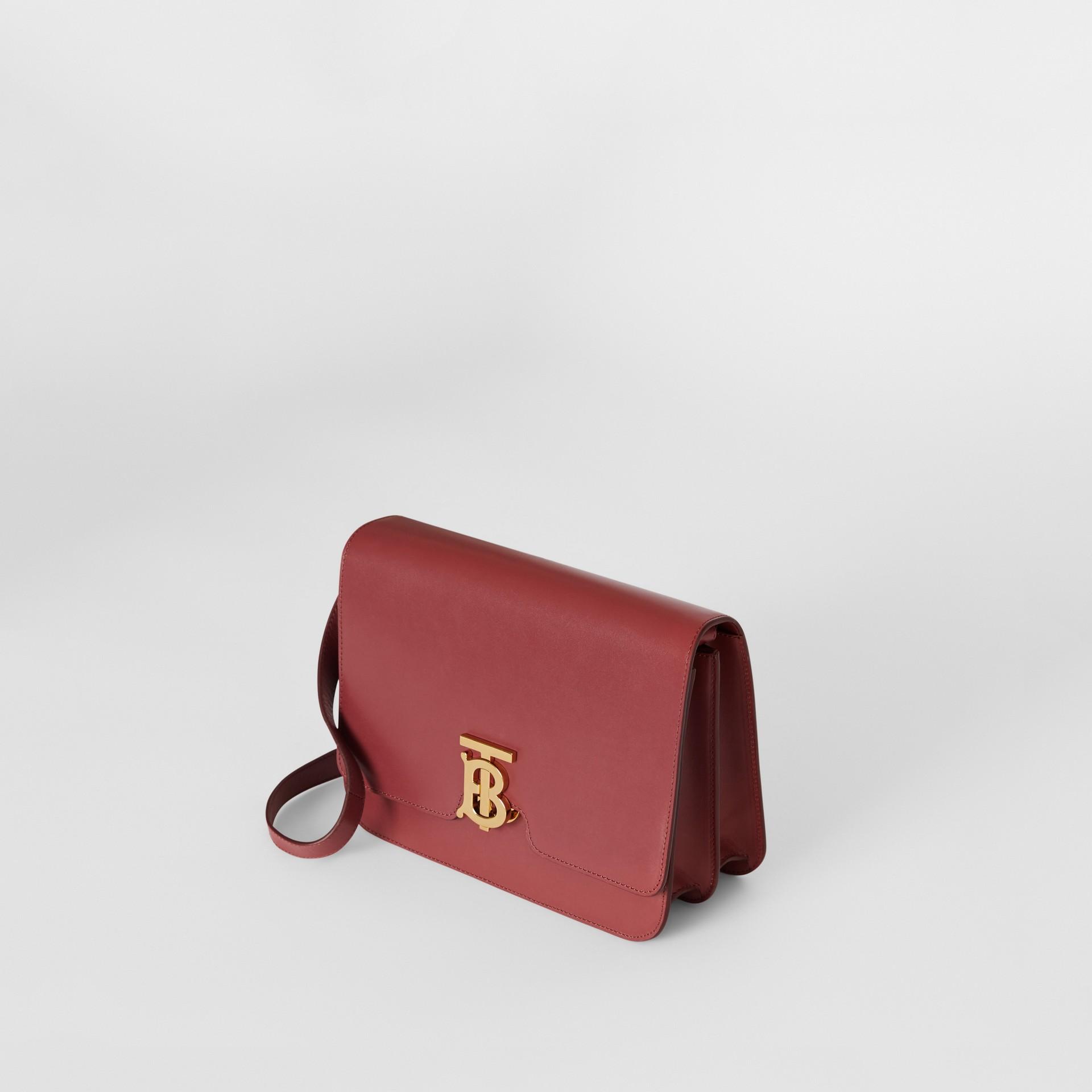 Medium Leather TB Bag in Crimson - Women   Burberry United States - gallery image 3