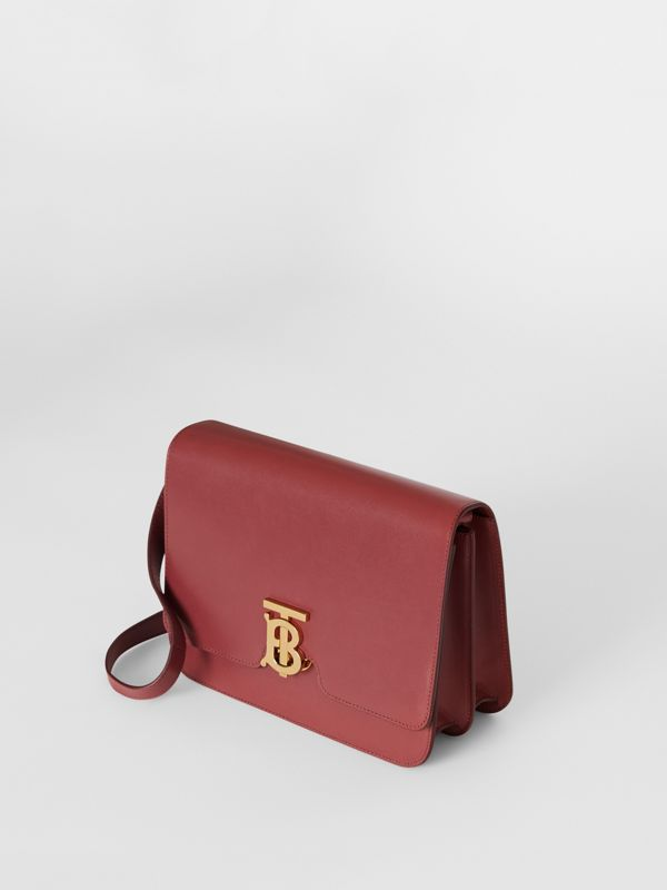 Medium Leather TB Bag in Crimson - Women   Burberry United States - cell image 3