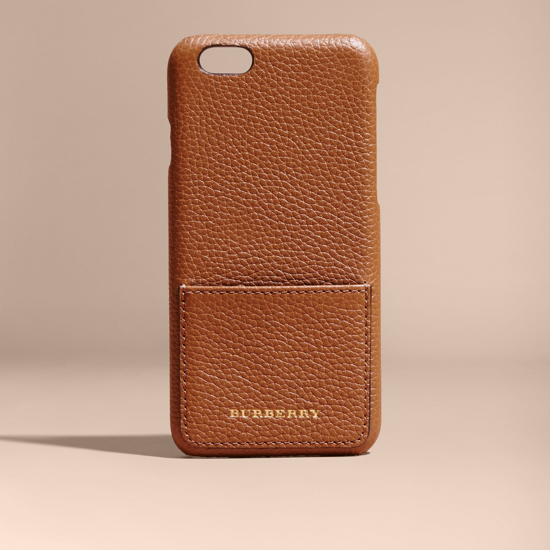 Tan Grainy Leather iPhone 6 Case - gallery image 5