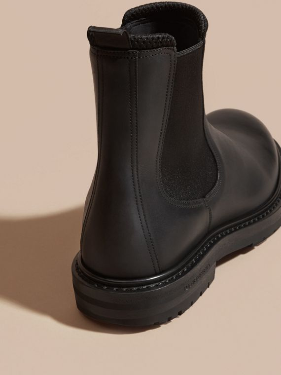 Black Leather Chelsea Boots - cell image 3