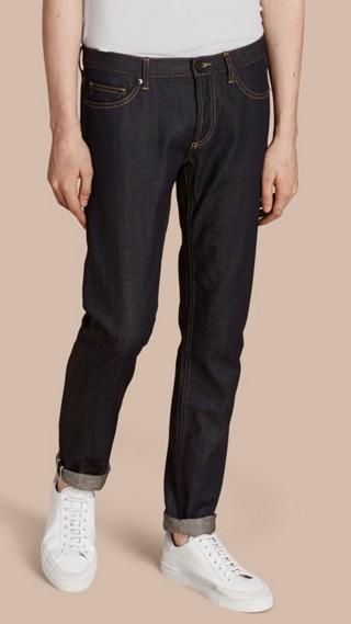Skinny Fit Indigo Selvedge Jeans