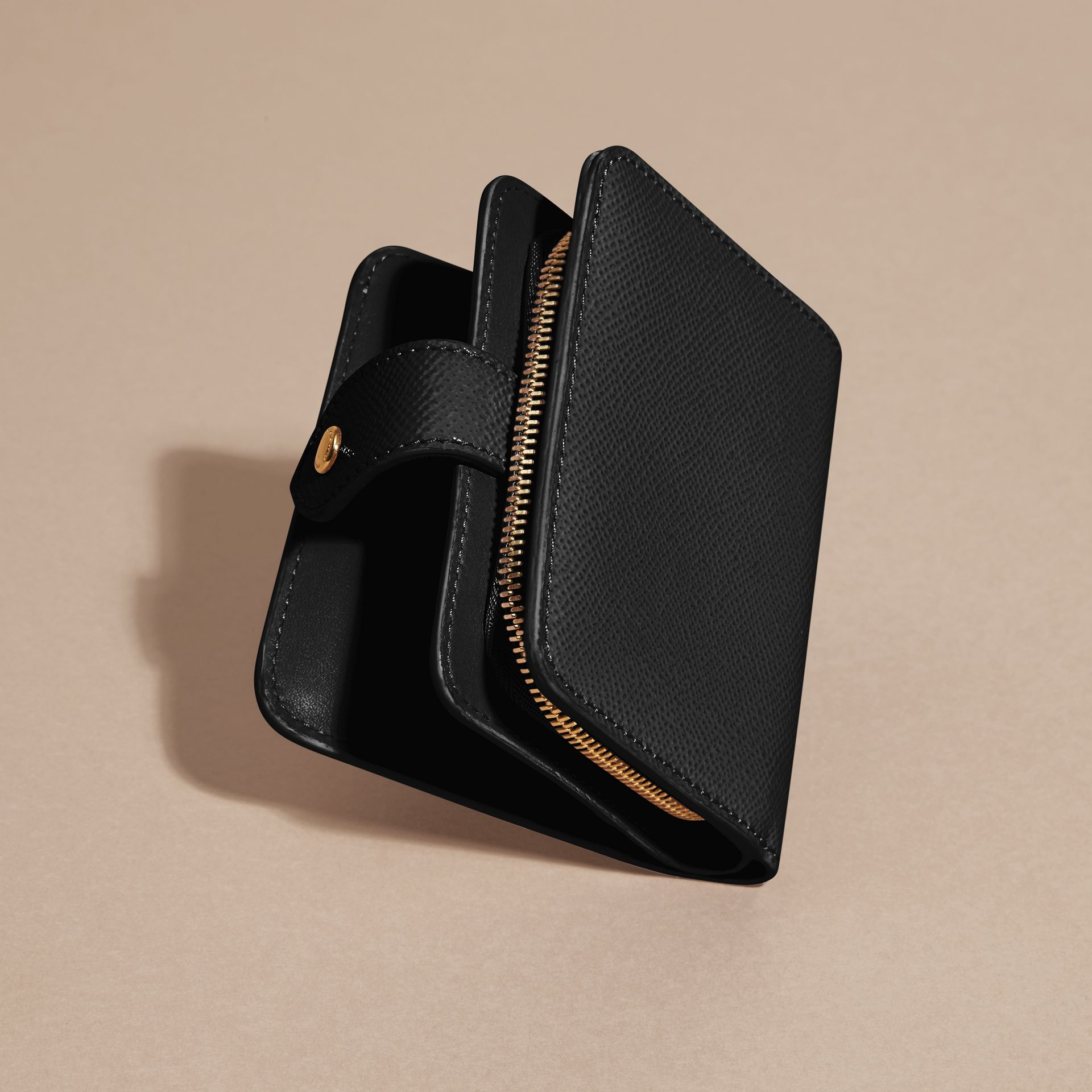 Patent London Leather Wallet in Black - gallery image 4