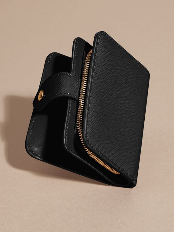 Patent London Leather Wallet in Black - cell image 3