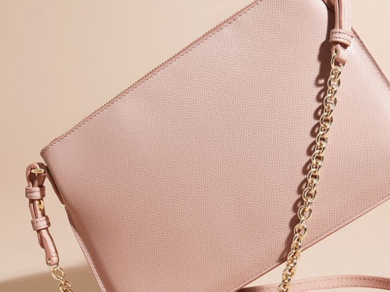 Patent London Leather Clutch Bag in Ash Rose - cell image 4