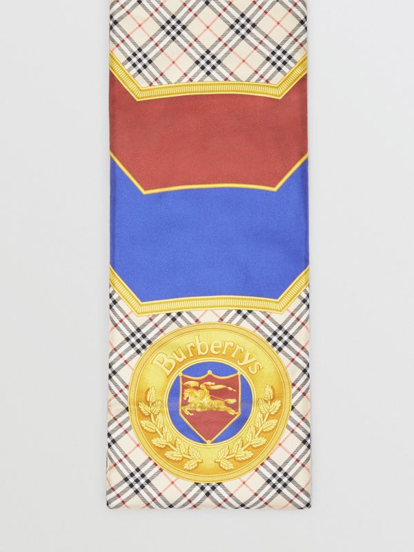 Archive Scarf Print Padded Silk Scarf in Antique Yellow | Burberry - cell image 3