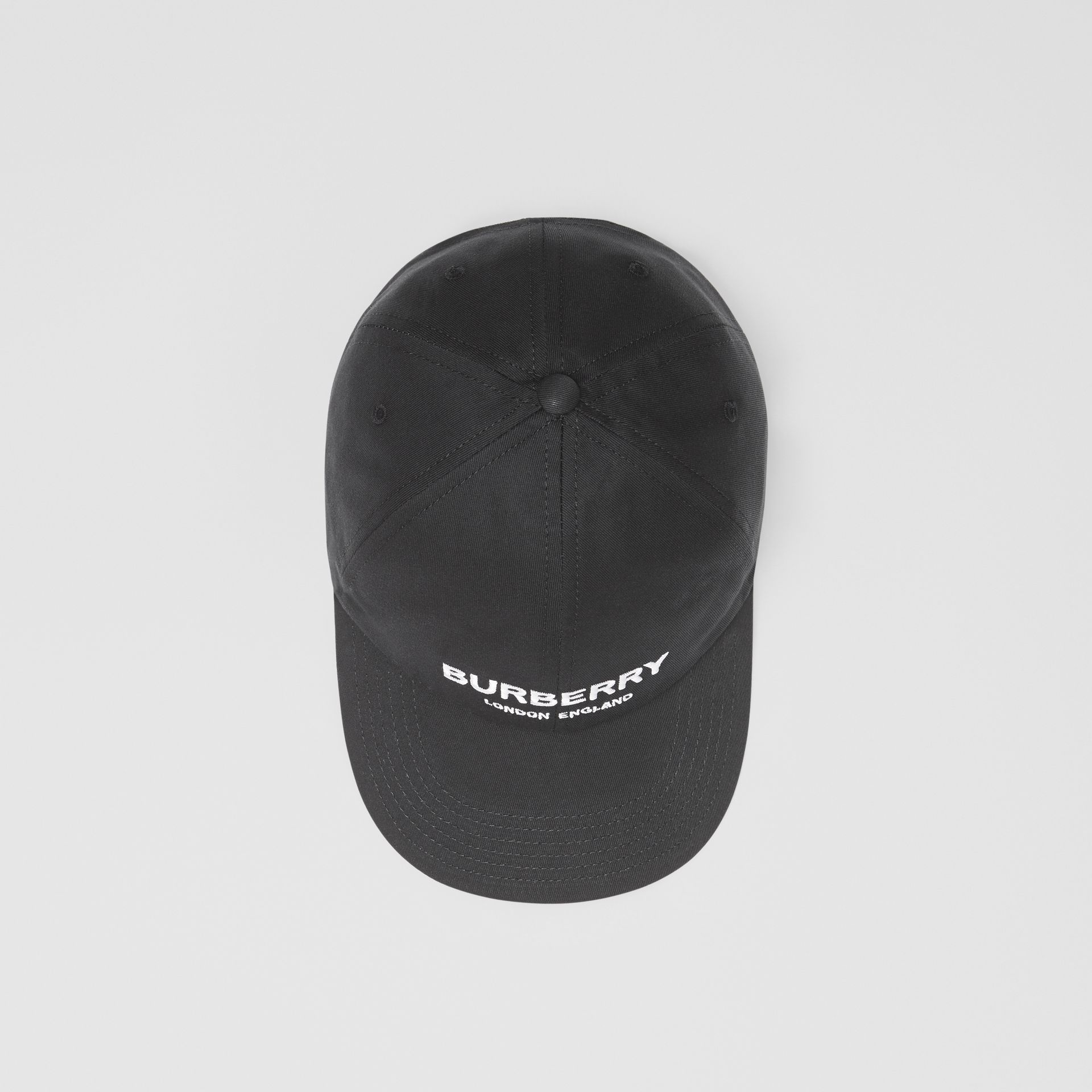Embroidered Logo Baseball Cap in Black | Burberry - gallery image 0