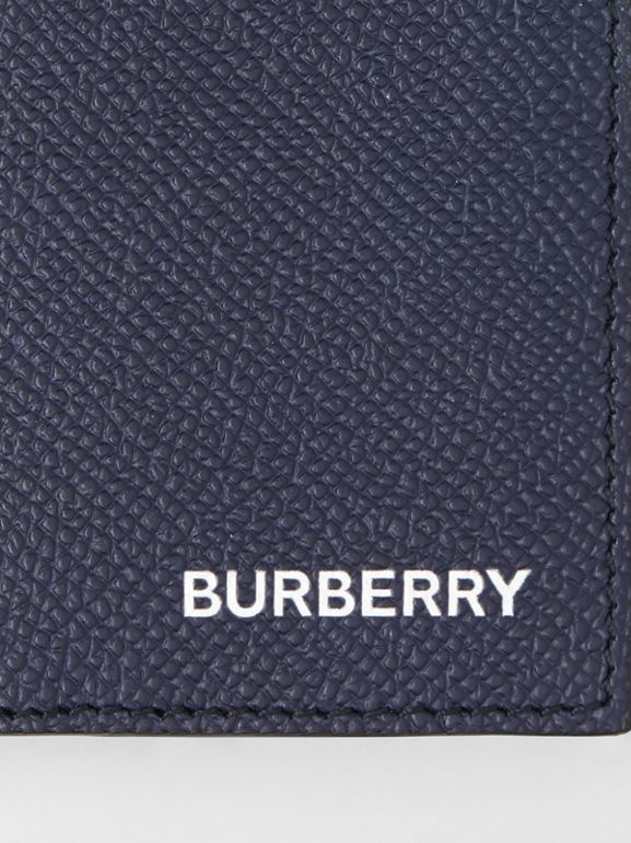 Grainy Leather Bifold Card Case in Regency Blue - Men | Burberry - cell image 1