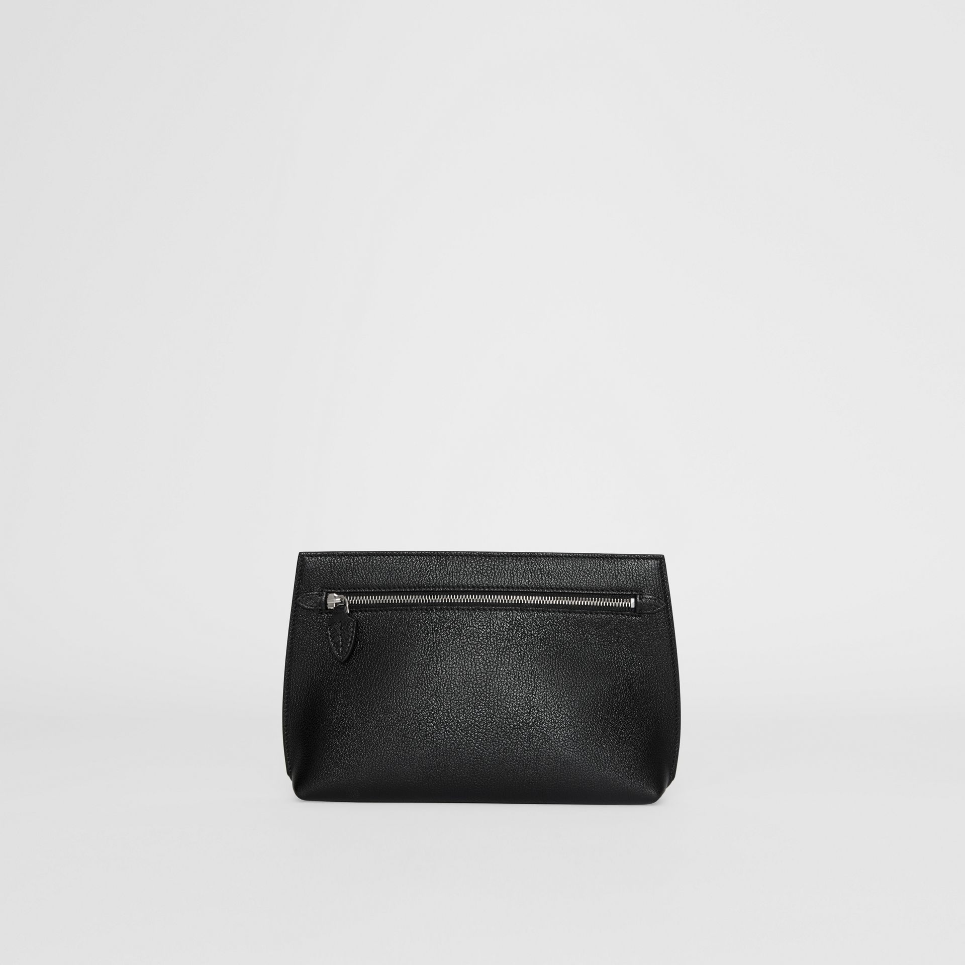 Grainy Leather Wristlet Clutch in Black - Women | Burberry - gallery image 7