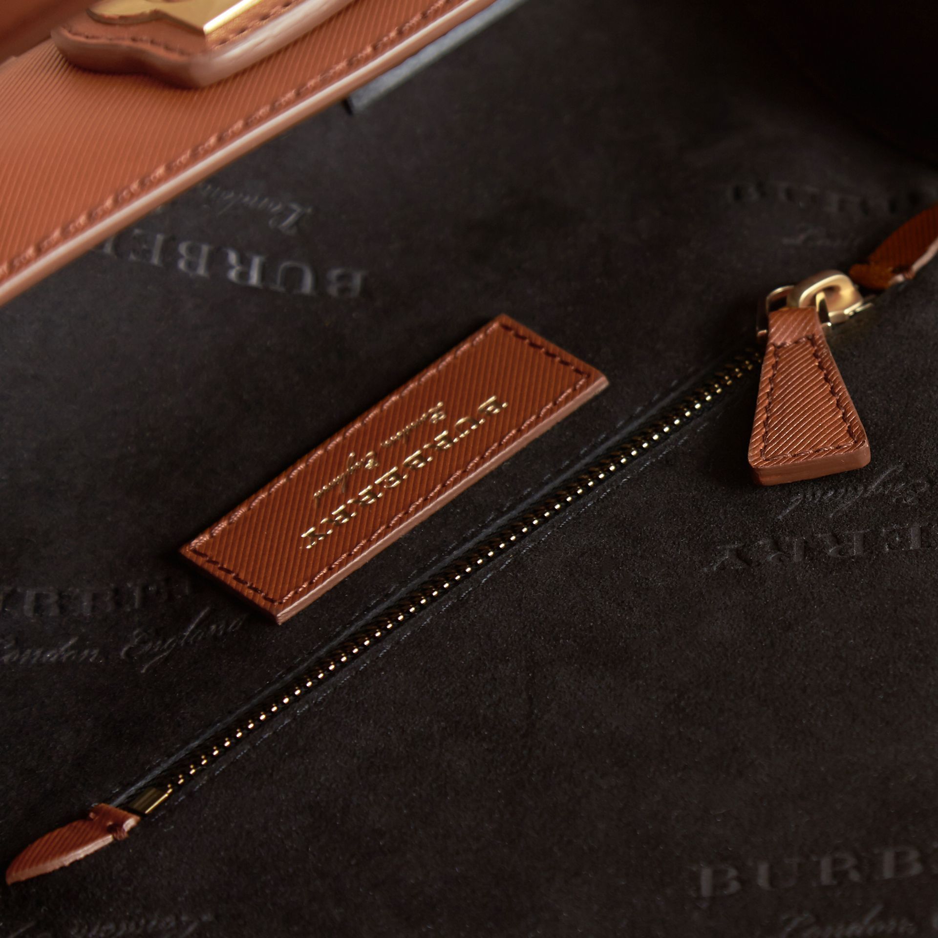 The Small DK88 Barrel Bag in Tan - Women | Burberry United States - gallery image 6