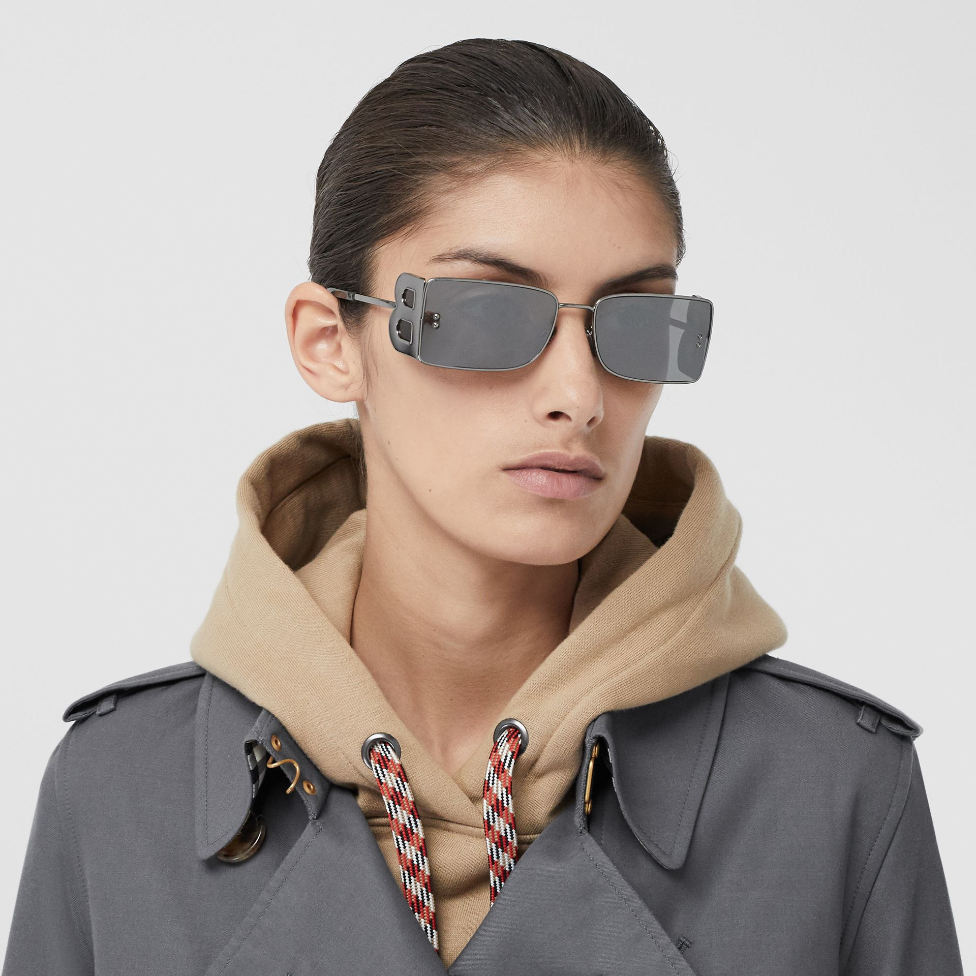 The Kensington – Trench Heritage long (Gris Moyen) - Femme | Burberry Canada - photo de la galerie 1