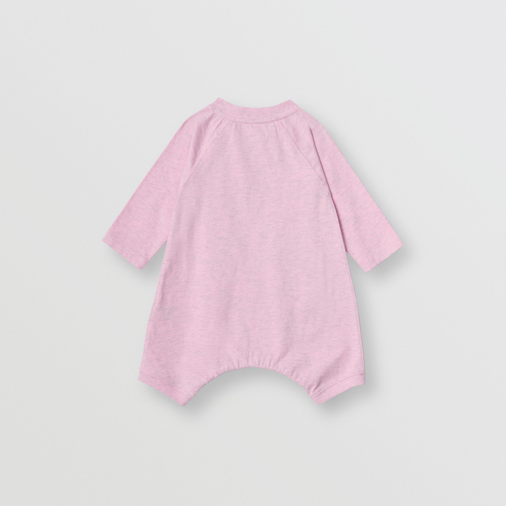 Logo Print Cotton Three-piece Baby Gift Set in Pale Pink - Children | Burberry - gallery image 3