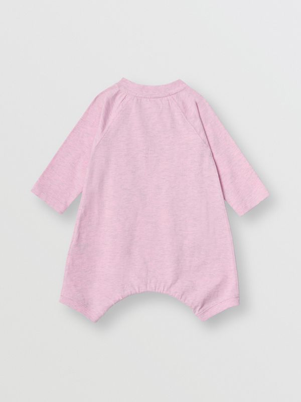 Logo Print Cotton Three-piece Baby Gift Set in Pale Pink - Children | Burberry Singapore - cell image 3