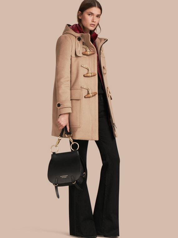 Wool Duffle Coat with Detachable Hooded Down-filled Warmer Camel