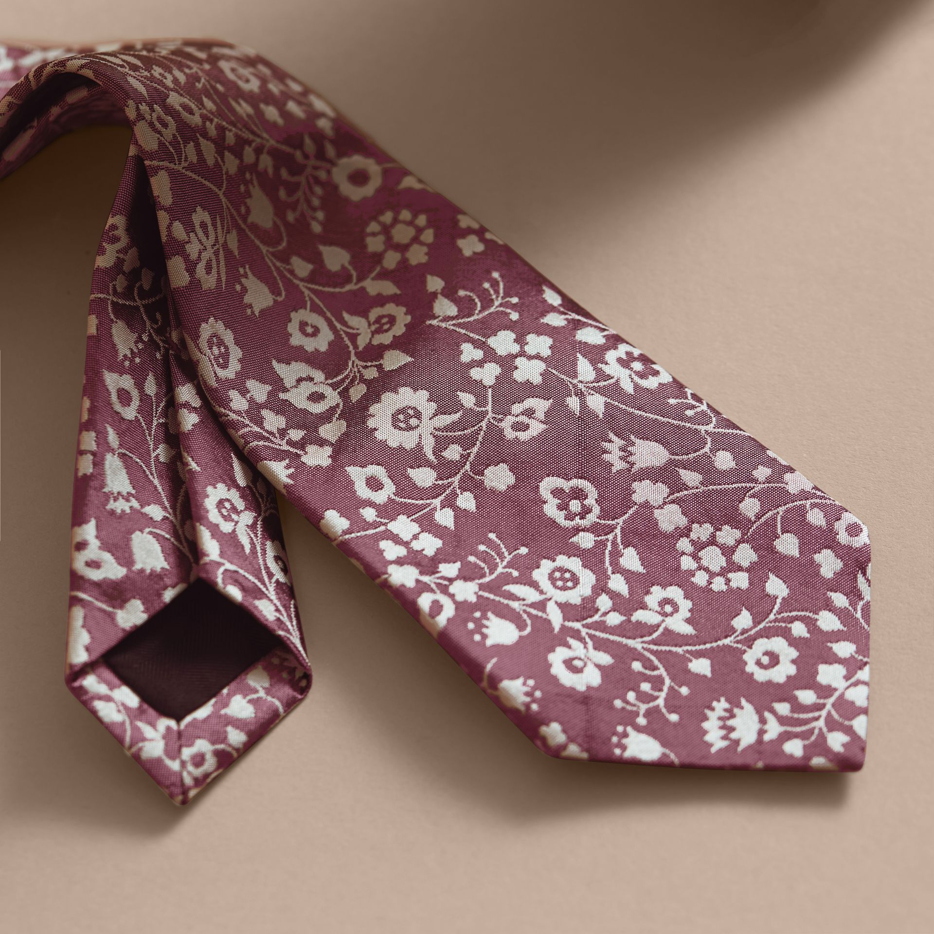 Modern Cut Floral Silk Jacquard Tie - Men | Burberry - gallery image 2