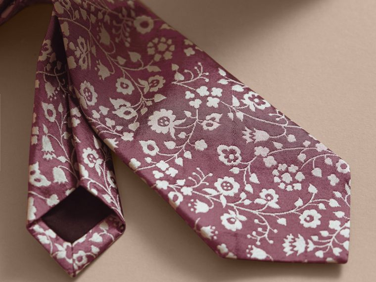 Modern Cut Floral Silk Jacquard Tie - Men | Burberry - cell image 1