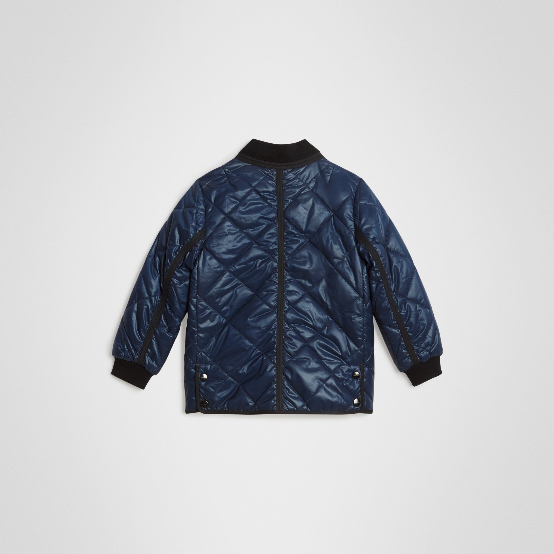 Showerproof Diamond Quilted Jacket in Navy | Burberry Singapore - gallery image 3