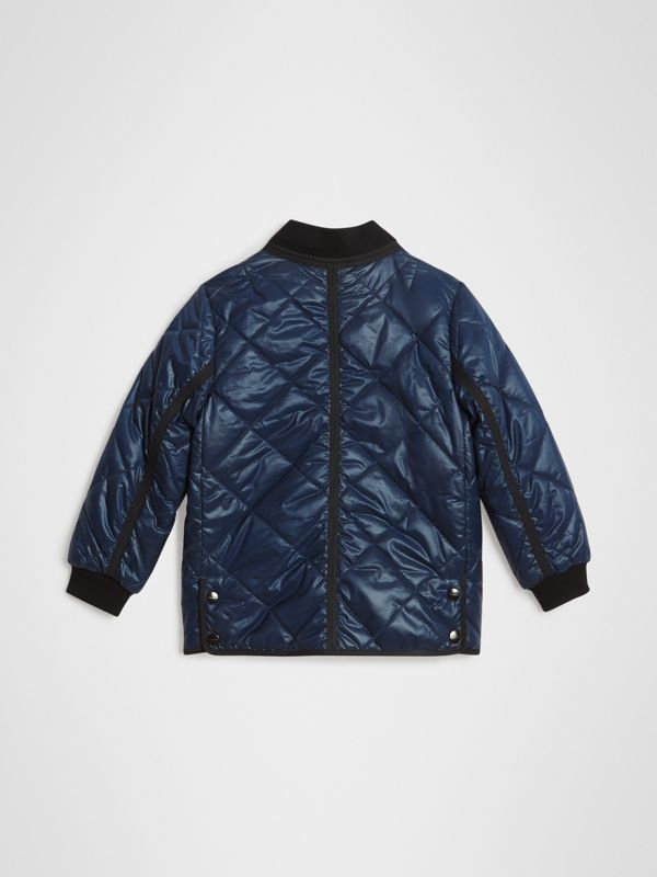 Showerproof Diamond Quilted Jacket in Navy | Burberry Singapore - cell image 3