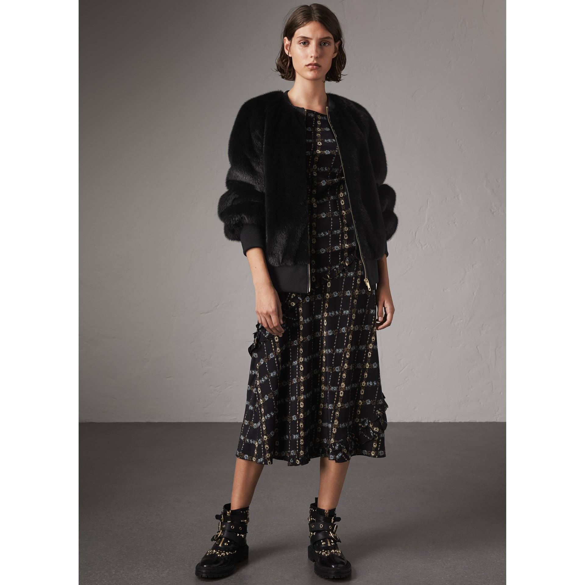 밍크 보머 재킷 (블랙) - 여성 | Burberry - 갤러리 이미지 5