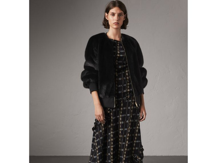 Bomber in visone (Nero) - Donna | Burberry - cell image 4
