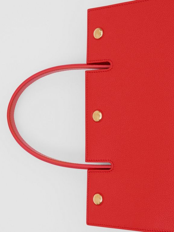 Small Leather Title Bag in Bright Red - Women | Burberry United States - cell image 1