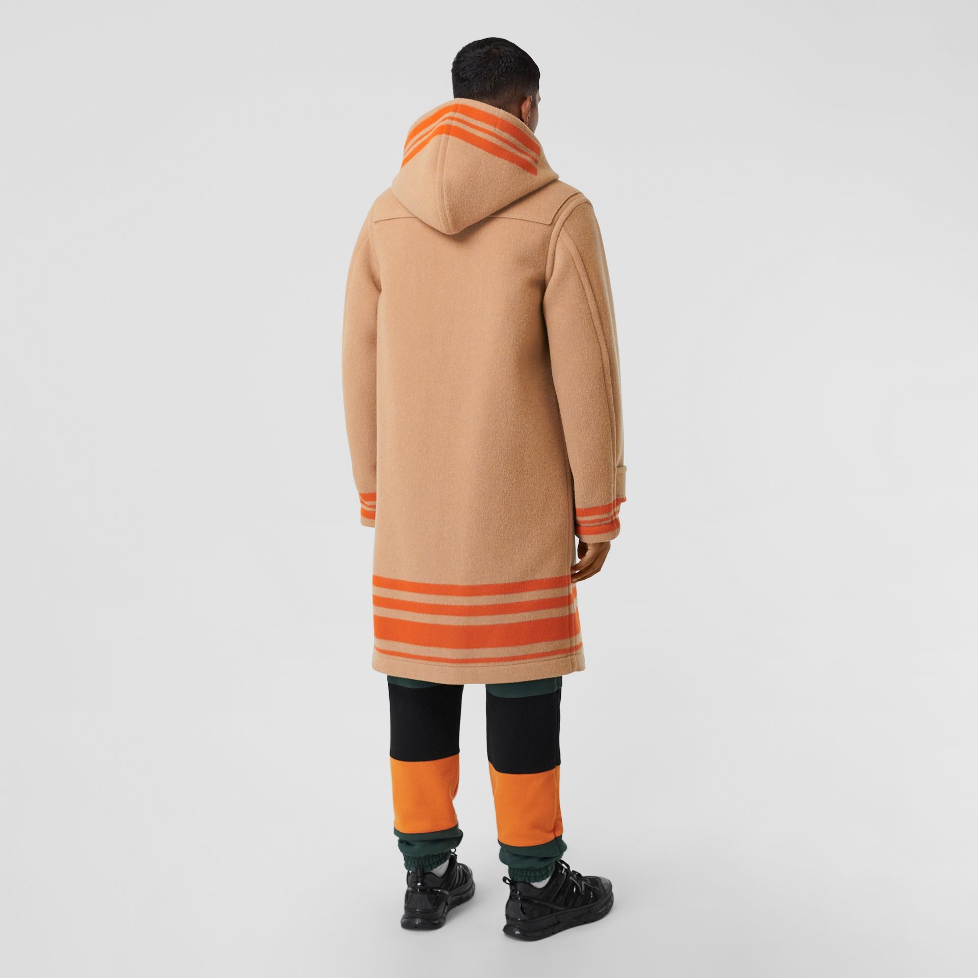 Striped Double-faced Wool Duffle Coat in Camel/orange - Men | Burberry - gallery image 2