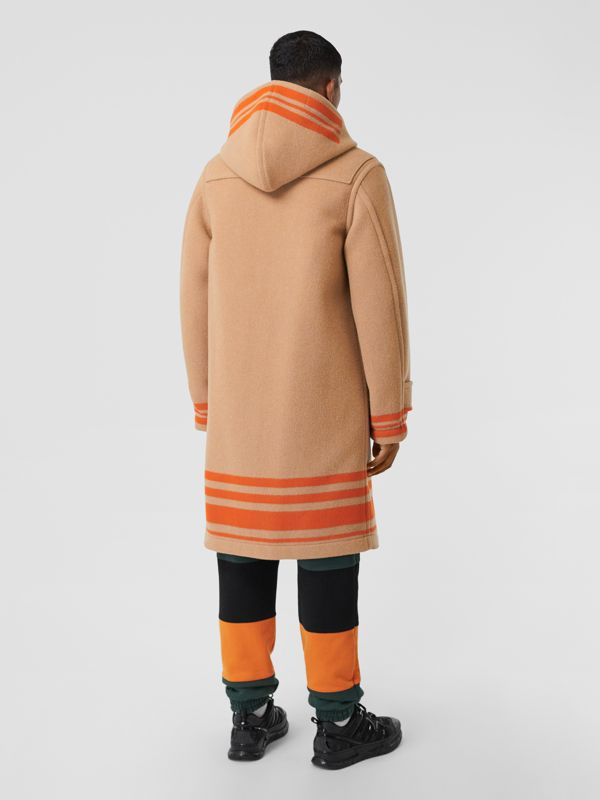 Striped Double-faced Wool Duffle Coat in Camel/orange - Men | Burberry - cell image 2