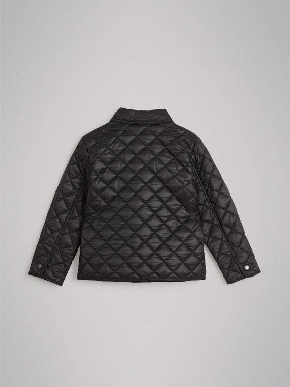 Diamond Quilted Jacket in Black - Boy | Burberry - cell image 3