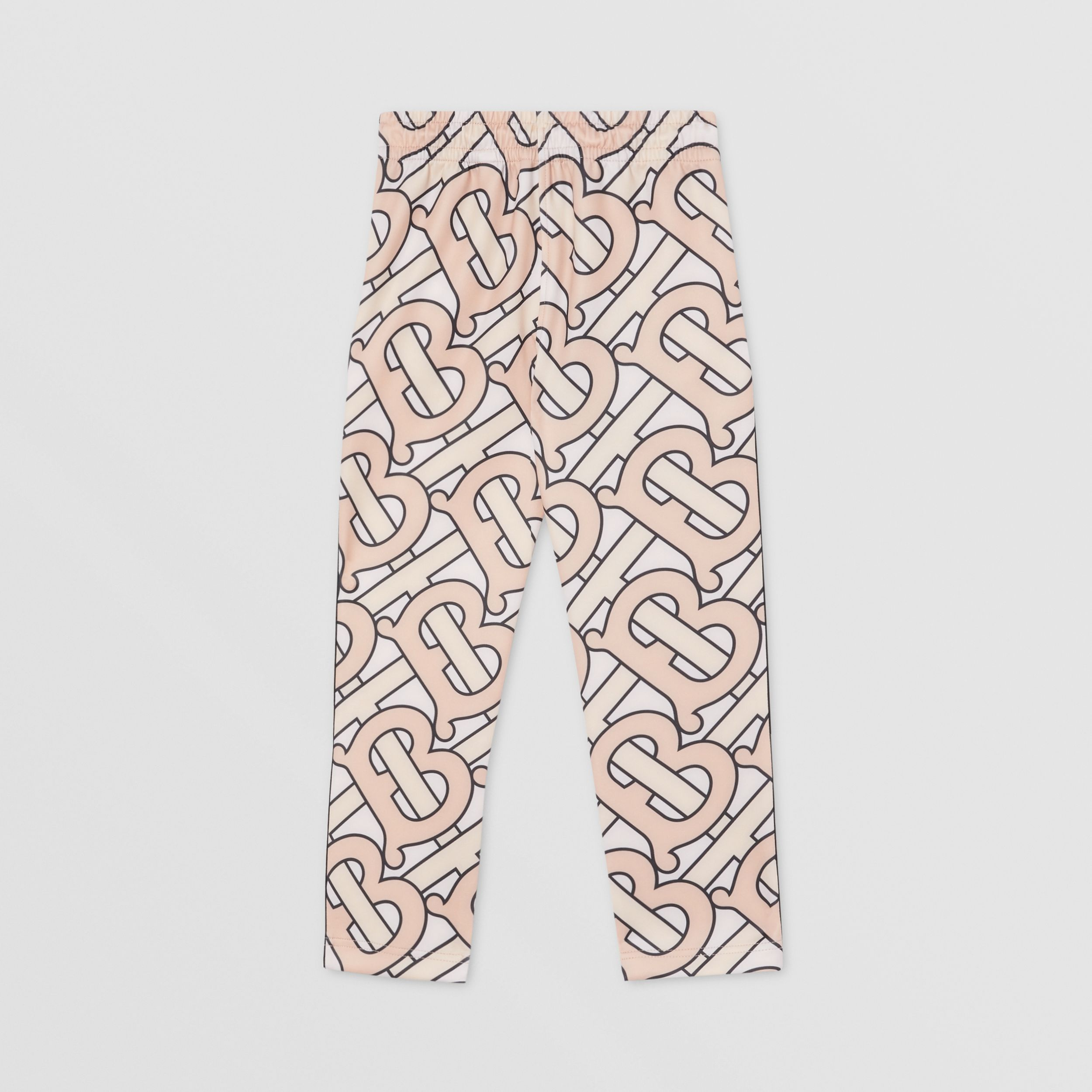 Monogram Print Technical Jersey Jogging Pants in Rose Pink | Burberry - 4