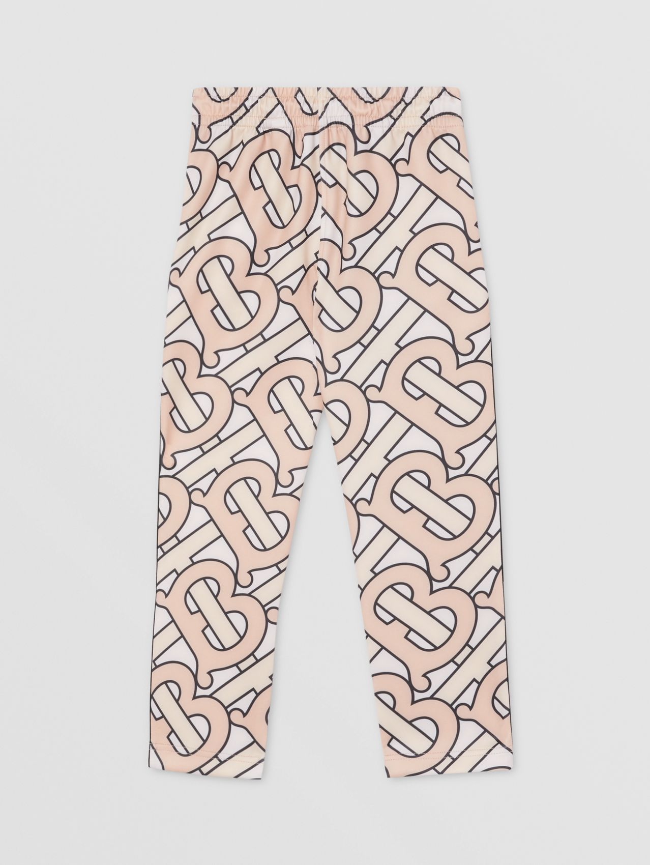 Monogram Print Technical Jersey Jogging Pants in Rose Pink