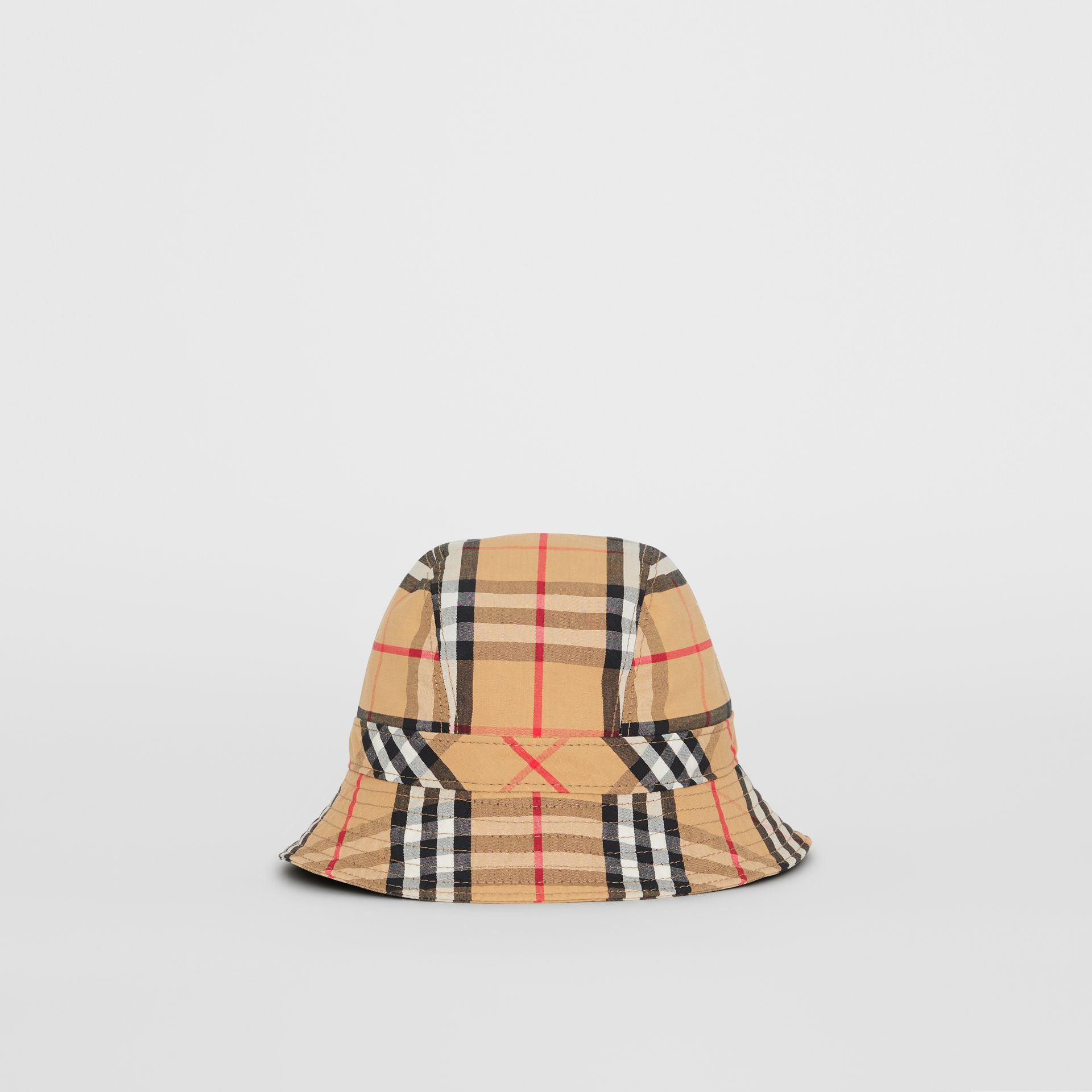 Vintage Check Cotton Bucket Hat in Antique Yellow - Women | Burberry - gallery image 0