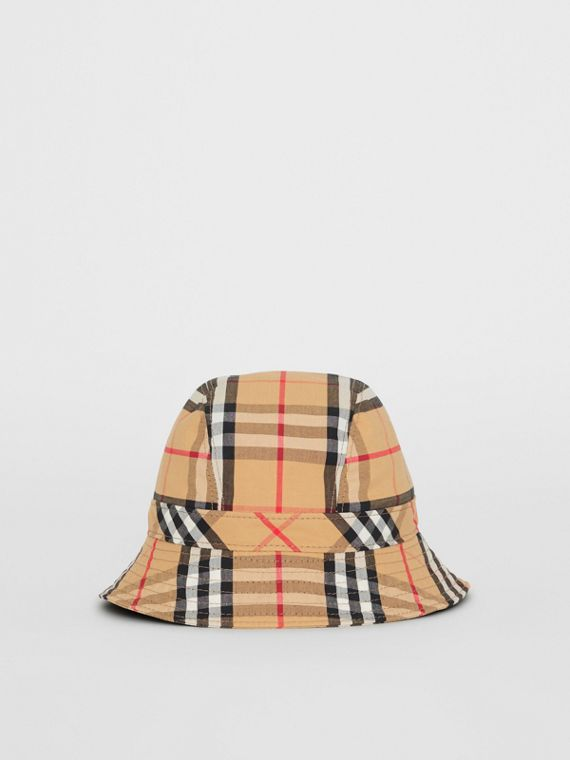 Vintage Check Bucket Hat in Antique Yellow