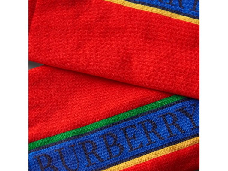 Logo Technical Knit Socks in Military Red | Burberry United States - cell image 1