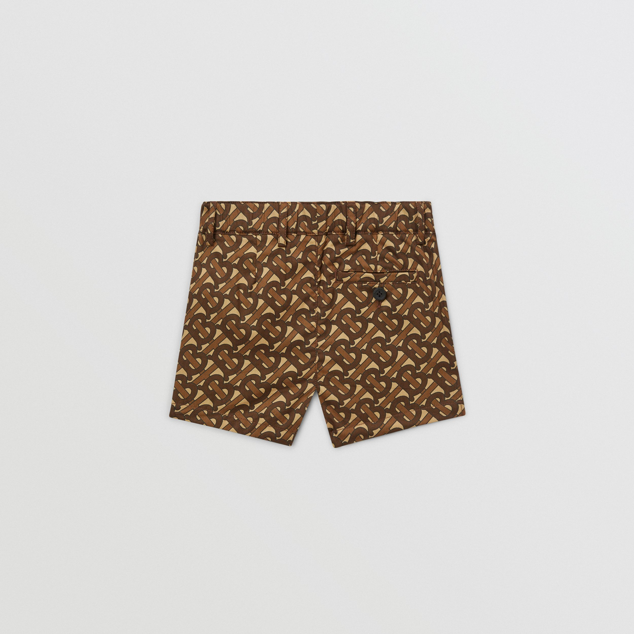 Monogram Print Cotton Tailored Shorts - Children | Burberry - 4
