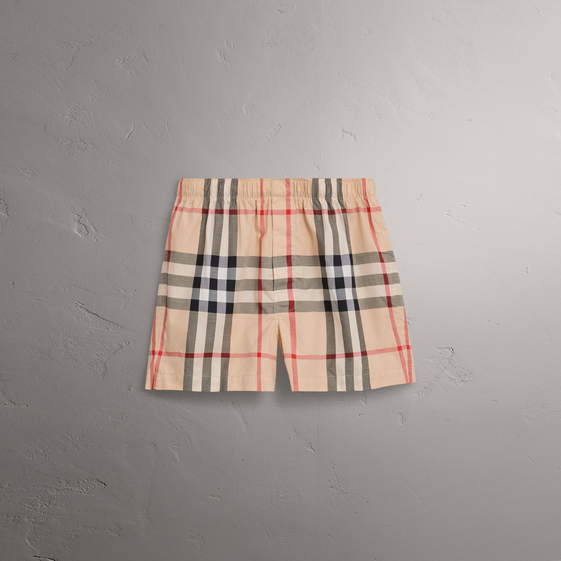 Check Twill Cotton Boxer Shorts in New Classic - Men | Burberry - gallery image 0