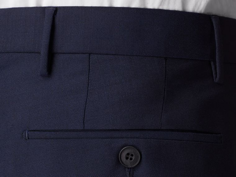 Slim Fit Wool Mohair Trousers in Royal Navy - Men | Burberry - cell image 1