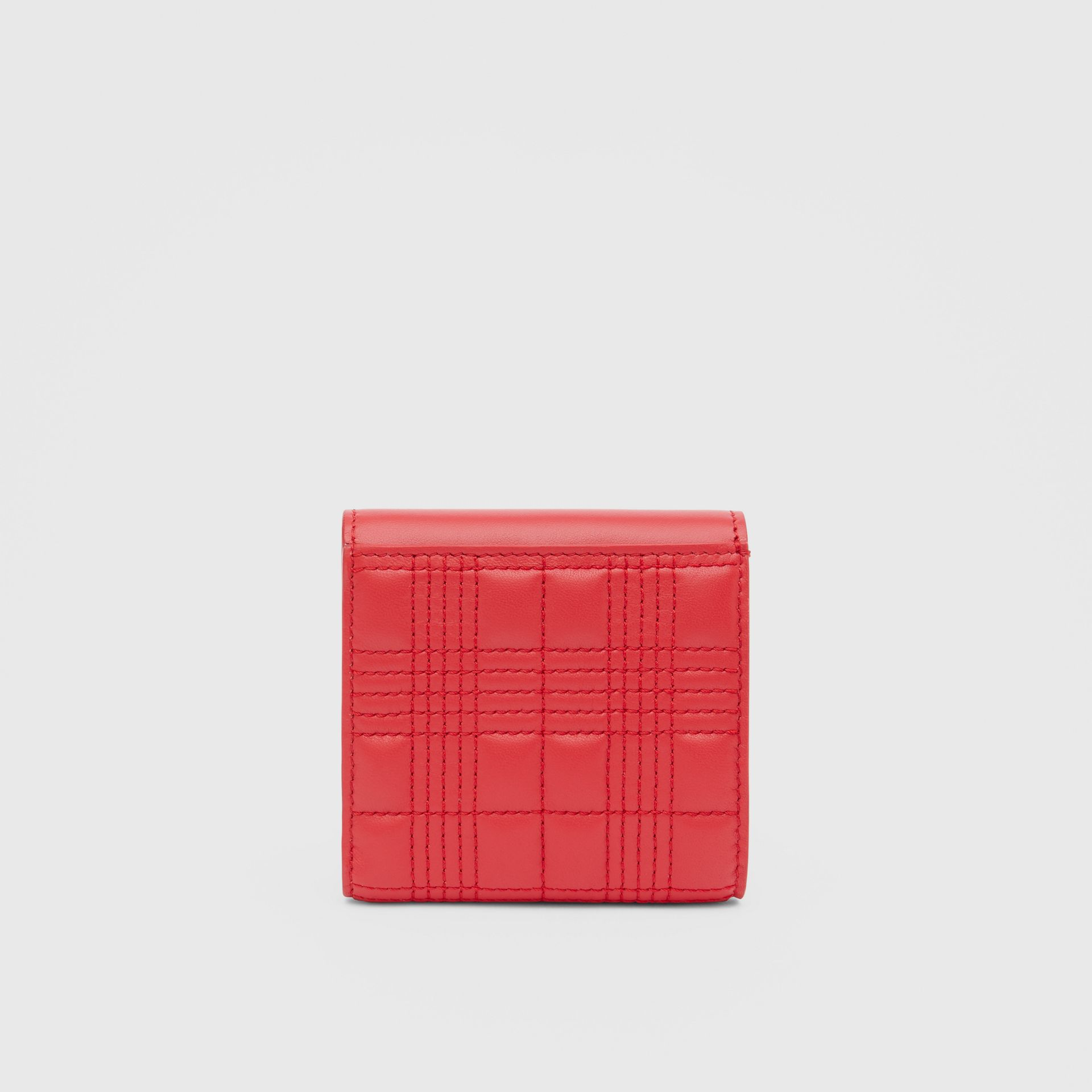 Quilted Lambskin Folding Wallet in Bright Red - Women | Burberry Hong Kong S.A.R - gallery image 4
